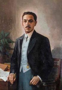 Alfredo González Flores. Pintura de Tomas Povedano
