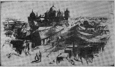 Ciudad de León (Nicaragua). Vísta en 1856.